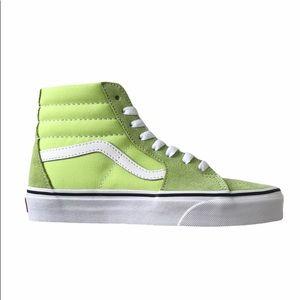 Vans sk8-hi sharp green sneaker shoes woman 5 new